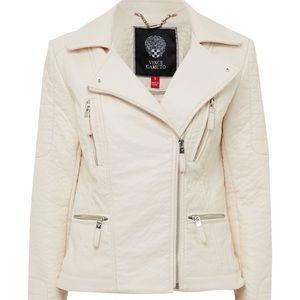 Vince Camuto cream Moto denim jacket
